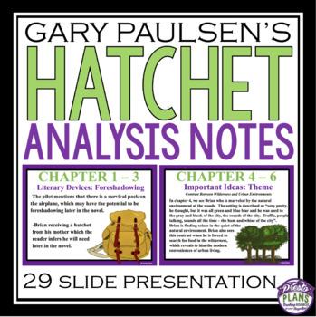 HATCHET ANALYSIS NOTES PRESENTATION
