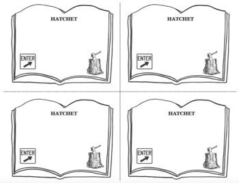 HATCHET Book Novel Study Entrance and Exit Slips