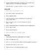 HATCHET COMPREHENSION QUESTIONS, 89 CHAPTER QUESTIONS 6 PGS, HATCHET NOVEL STUDY