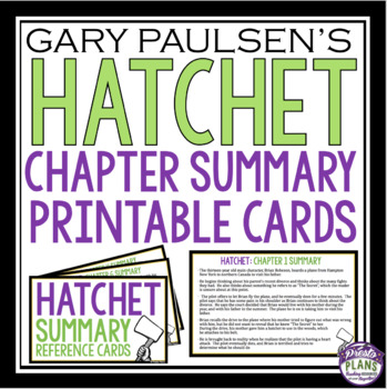 HATCHET CHAPTER SUMMARY CARDS