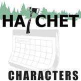 HATCHET Characters Analyzer (by Gary Paulsen)