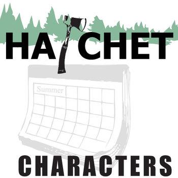 HATCHET Characters Organizer (by Gary Paulsen)