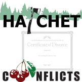 HATCHET Conflict Graphic Organizer - 6 Types of Conflict