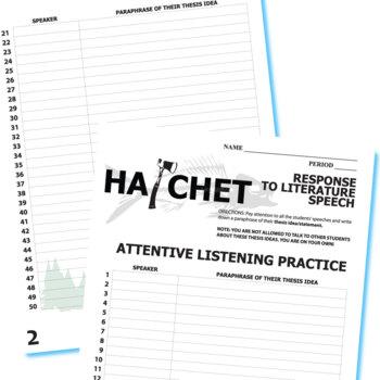 HATCHET Essay Prompts & Grading Rubrics (by Gary Paulsen)