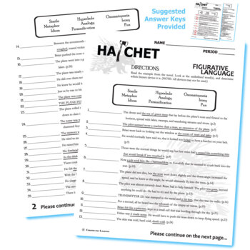 HATCHET Figurative Language Analyzer (51 quotes) by ...