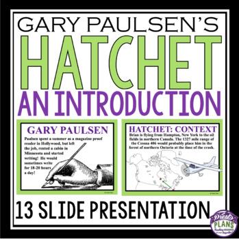 HATCHET INTRODUCTION PRESENTATION