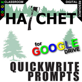 HATCHET Journal - Quickwrite Writing Prompts (Created for