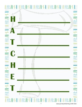 HATCHET-NOVEL ACROSTIC