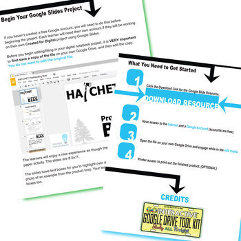 HATCHET PreReading Bias Activity (Created for Digital)