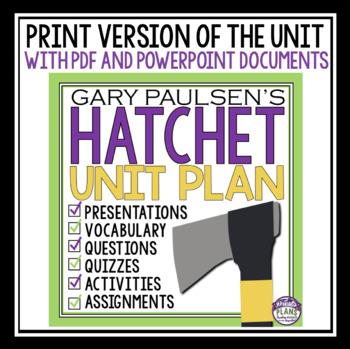 HATCHET UNIT PLAN DIGITAL GOOGLE AND PRINT BUNDLE