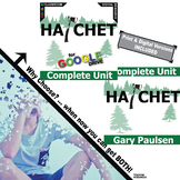 HATCHET Unit Plan Novel Study - Literature Guide (Print & Digital Included)