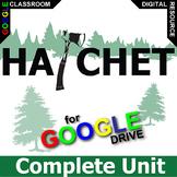 HATCHET Unit Survival Novel Study - Literature Guide (Created for Digital)