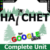 HATCHET Unit Plan Survival Novel Study - Literature Guide (Created for Digital)