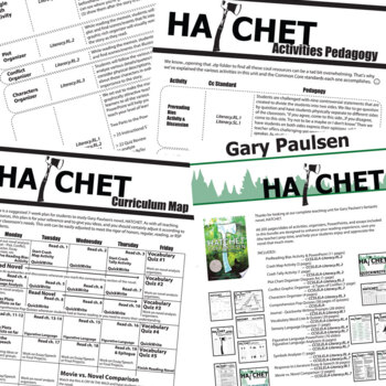 HATCHET Unit Novel Study (by Gary Paulsen) - Literature Guide