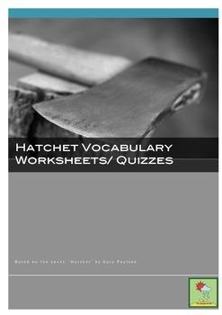 HATCHET ~ VOCABULARY QUIZZES