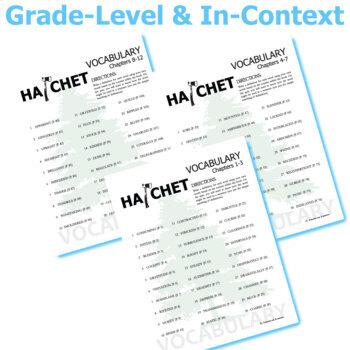 HATCHET Vocabulary Complete Novel (150 words)