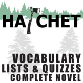 HATCHET Vocabulary Complete Novel (150 words)