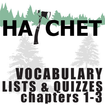 HATCHET Vocabulary List and Quiz (30 words, chs 1-3)