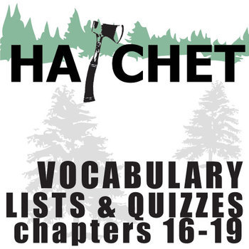 HATCHET Vocabulary List and Quiz (30 words, chs 16-19)