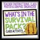 HATCHET ACTIVITY: SURVIVAL PACK