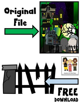 HAUNTED HOUSE CLIP ART * FREE * COLOR AND BLACK AND WHITE
