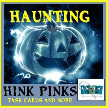 HAUNTING HALLOWEEN HINK PINKS:   Station Task Cards, Stude