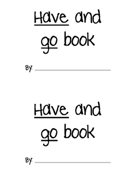 HAVE/GO Sight Word Practice Book