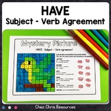 HAVE Subject Verb Agreement Activities : 6 mystery picture