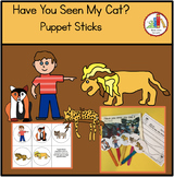 HAVE YOU SEEN MY CAT   FREE PUPPET STICKS