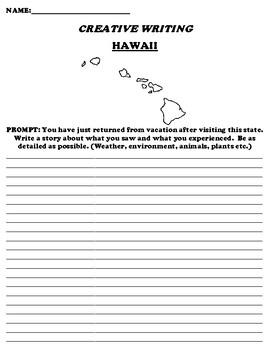 HAWAII CREATIVE WRITING  DIFFERENTIATED WORKSHEET