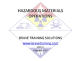 HAZMAT FIRST RESPONER OPERATIONS (HAZARDOUS MATERIAL)