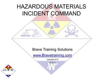 HAZMAT INCIDENT COMMAND (hazardous material)