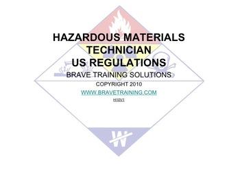HAZMAT TECHNICIAN US REGULATIONS (Hazardous Material)