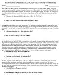 HBCU reading & questions