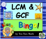 GCF & LCM Bingo Activity