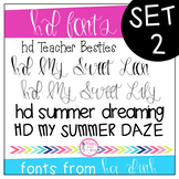 HD Fonts Set 2 (Hand Lettering and Print Fonts)