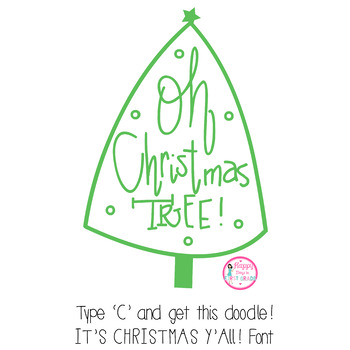 HD It's Christmas, Y'all! Font