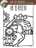 HE IS RISEN! coloring page {free}