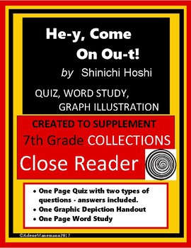 HE-Y, COME ON OU-T! Quiz, Word Study, Graphic Organizer