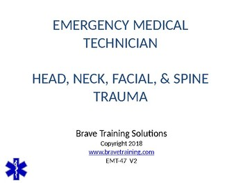 HEAD NECK EYE & FACIAL INJURIES EMERGENCY CARE PPT TRAINING PRESENTATION