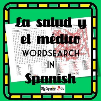 HEALTH Buen Viaje I Ch 8 La Salud Y El Medico Wordsearch