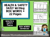 HEALTH & SAFETY - Daily Writing - BOX LETTERS in a sentence!!!!