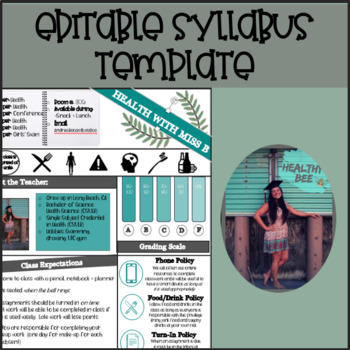 HEALTH SYLLABUS TEMPLATE l FULLY EDITABLE