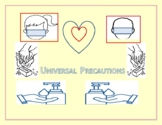 HEALTH: UNIVERSAL PRECAUTIONS COLORING PAGE/ SIGN/ POSTER: K-6