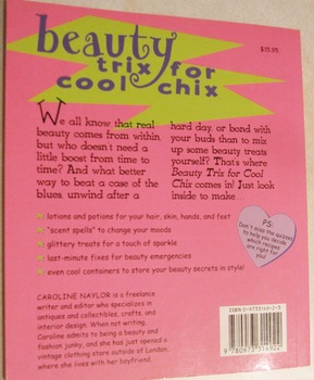 HEALTH homemade recipes lotions home spa BEAUTY TRIX FOR COOL CHIX Incl shipping