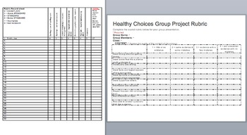 HEALTHY CHOICES: Informational Text, Writing, Health, Technology: Grades 5 - 8