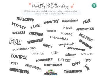 HEALTHY (DATING) RELATIONSHIPS (TEEN)