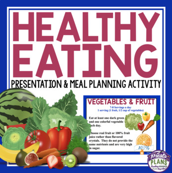 HEALTHY EATING LESSON & MEAL PLAN ACTIVITY