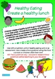 HEALTHY LUNCHBOX - HEALTHY EATING CUT AND PASTE, COLOUR, DRAW, FOOD PYRAMID