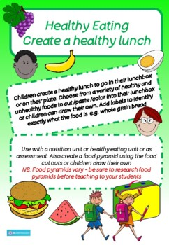 HEALTHY LUNCHBOX - HEALTHY EATING CUT AND PASTE, COLOUR, D
